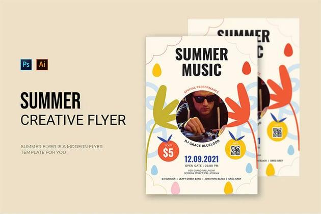 Summer Musical Flyer Design