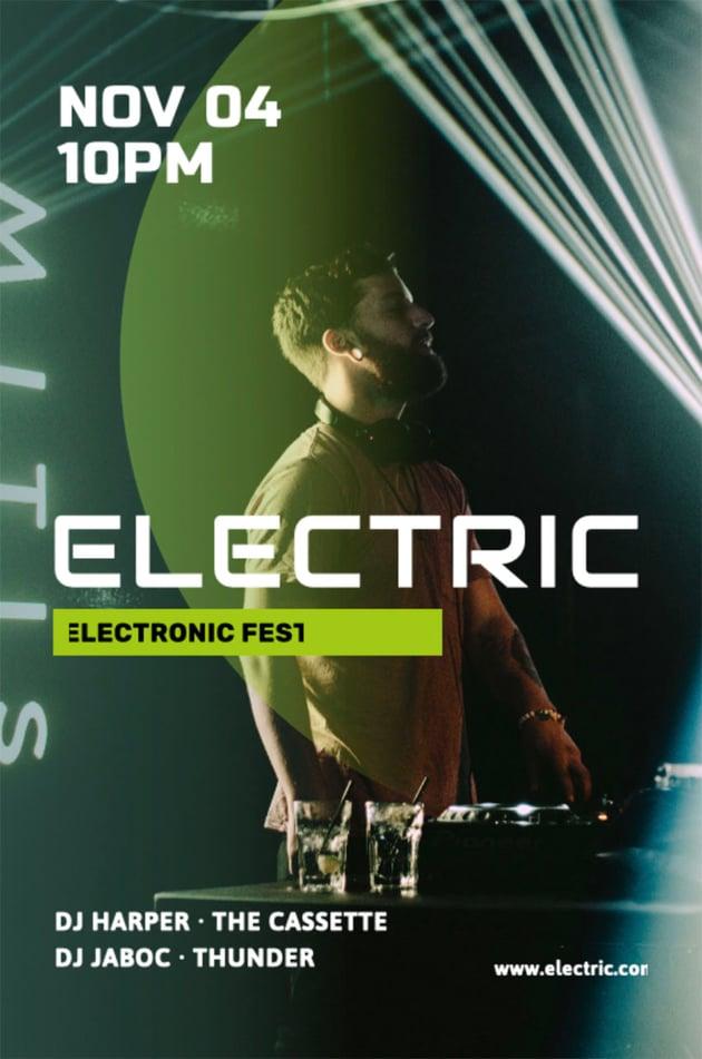 electronic music festival flyer