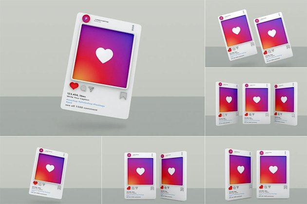Instagram Post Mockup Template - Vol 07