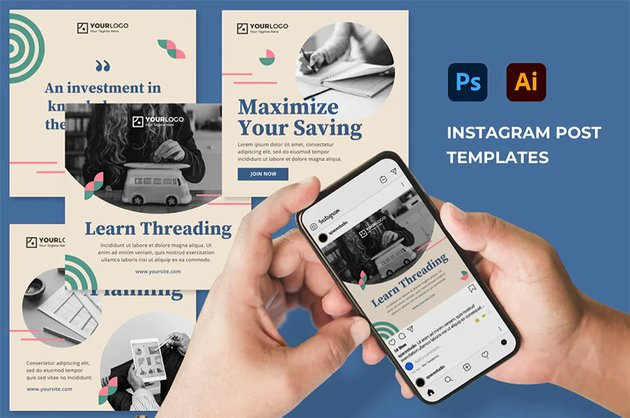 Infographics on Instagram Template