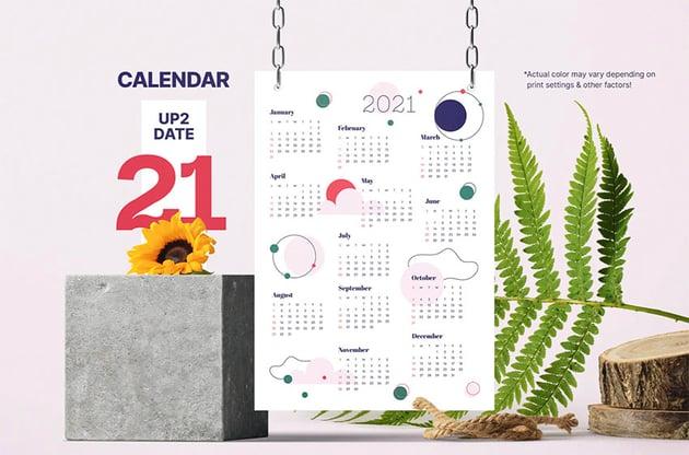 Cute Monthly Calendar Template