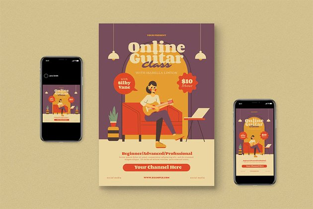 Online Music Lessons Flyer