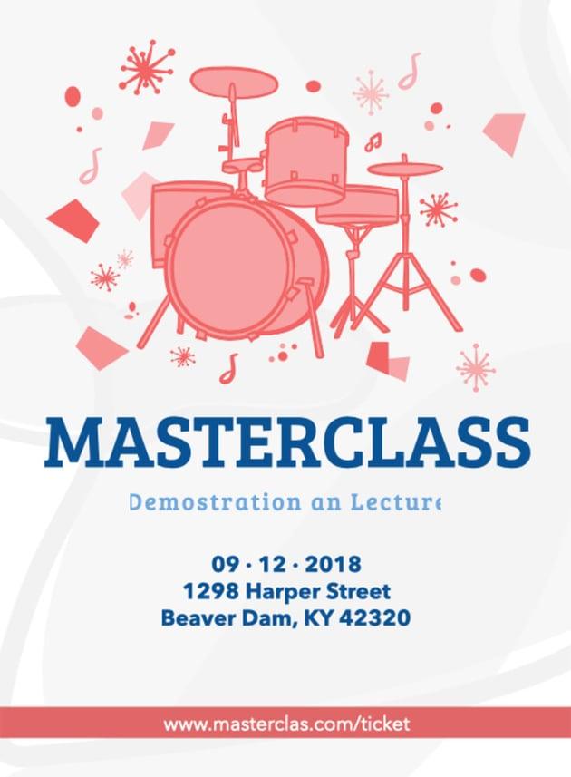 Masterclass Music Flyer Maker