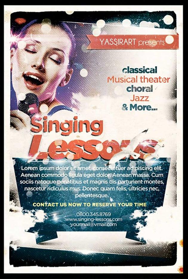 Singing Lessons Flyer