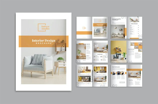 Interior InDesign Brochure Template