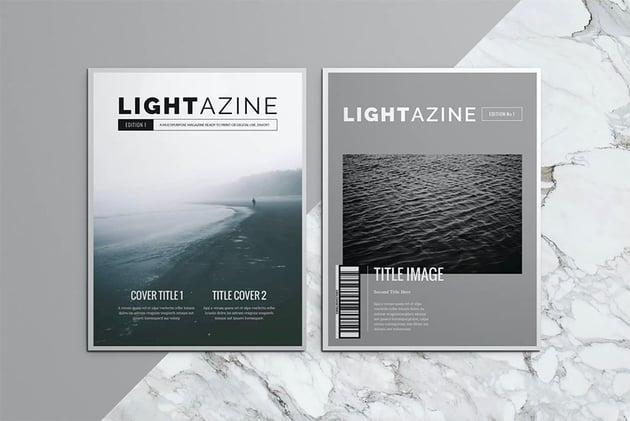 Lightazine InDesign Template