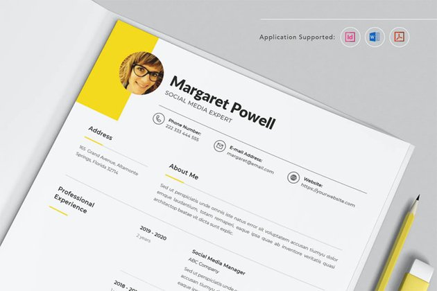 Professional CV Resume Indesign Template Vol.1