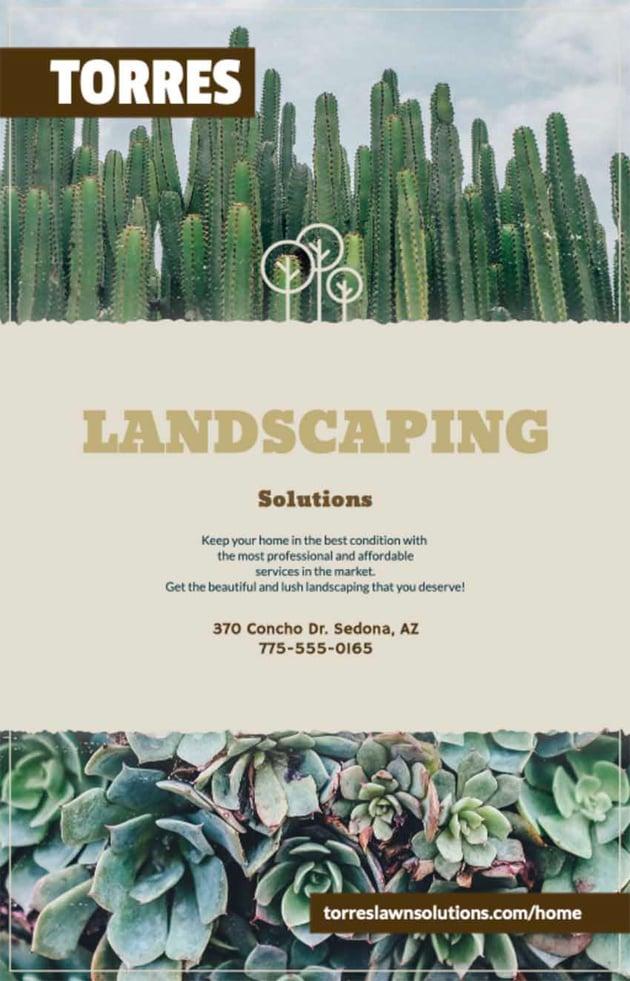 Landscape Advertising Flyers
