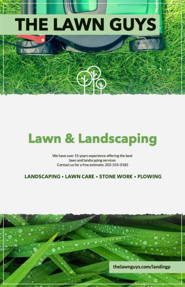 Lawn Guys Landscaping Flyers