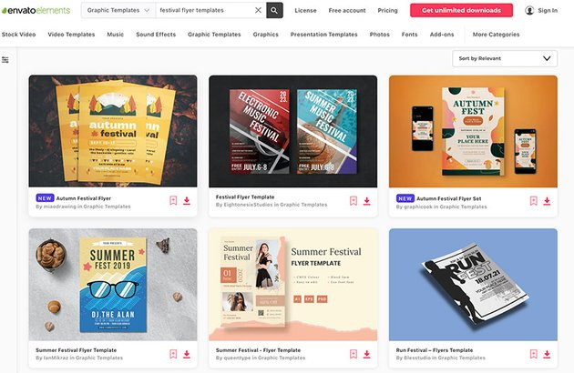 Best Festival Flyer Templates from Envato Elements