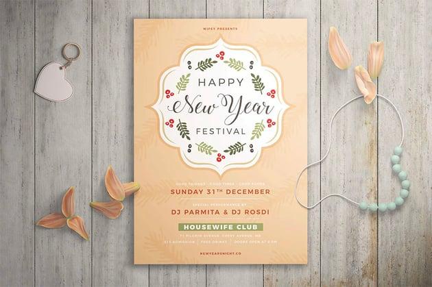 New Year Festival Flyer
