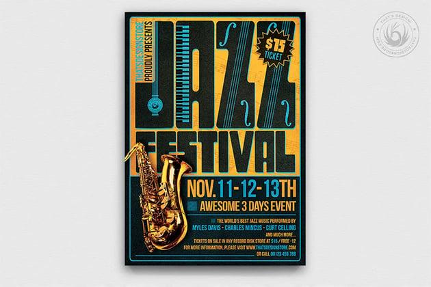 Jazz Music Festival Flyer Template