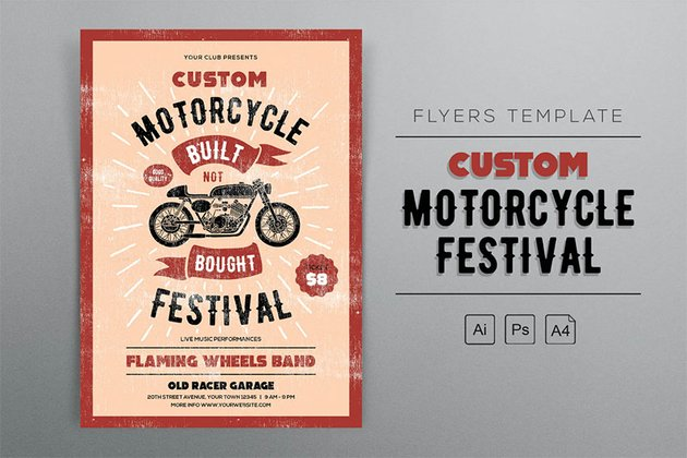 Custom Motorcycle Festival Flyers Template