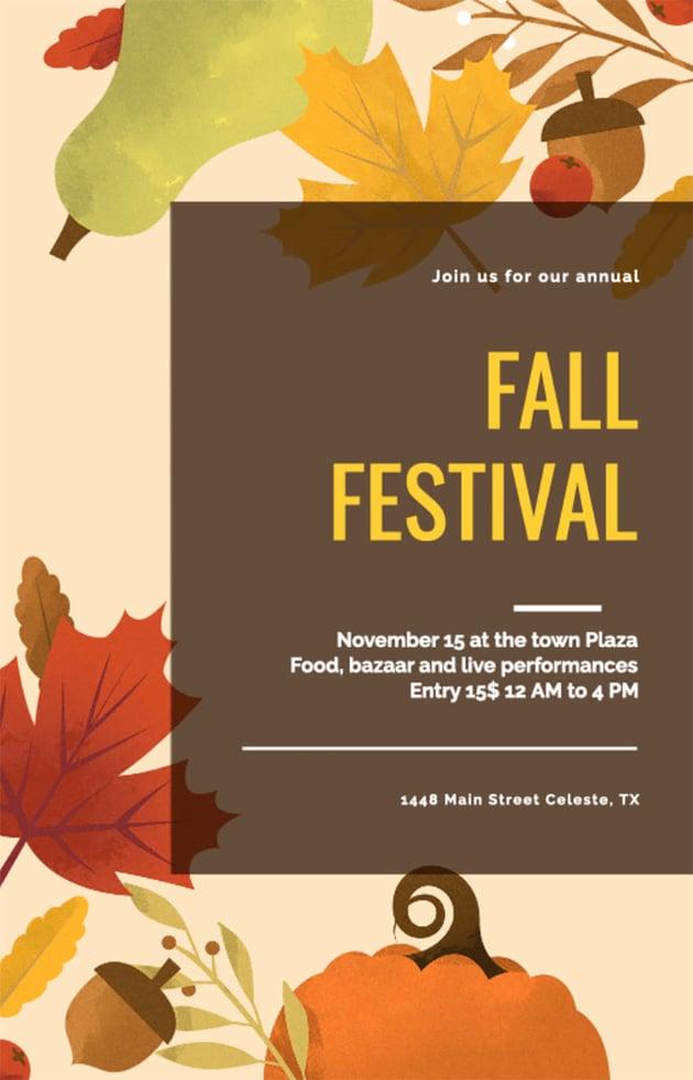 Fall Festival Flyer Design