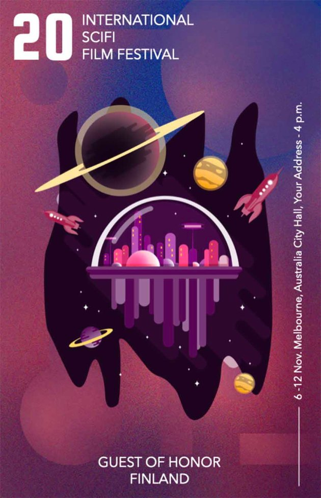SciFi Film Festival Flyer Design