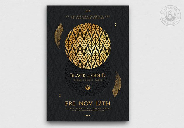 Black and Gold Design Template