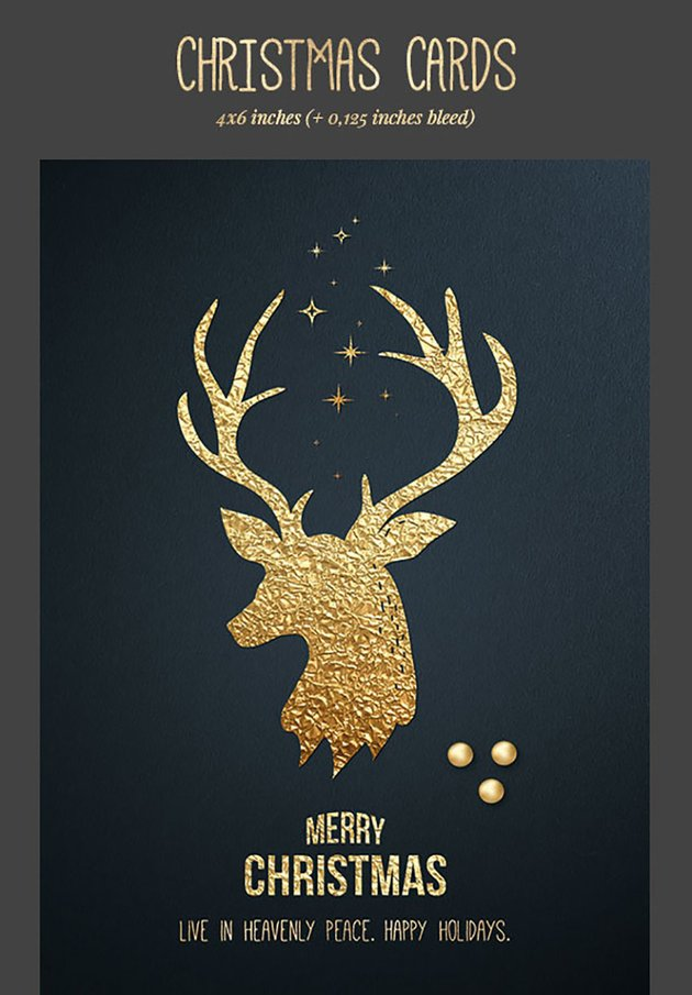 Black and Gold Christmas Cards