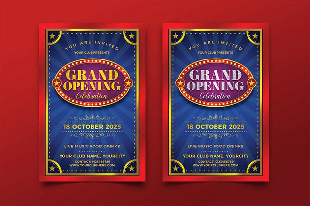 Grand Opening Party Flyer Templates