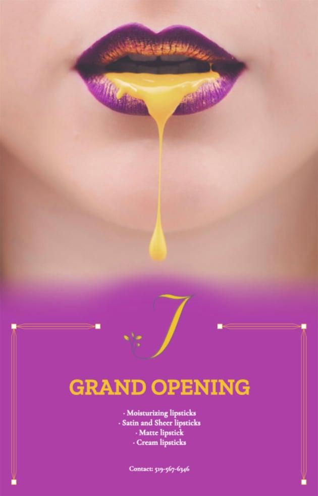 Hair Salon Grand Opening Flyer