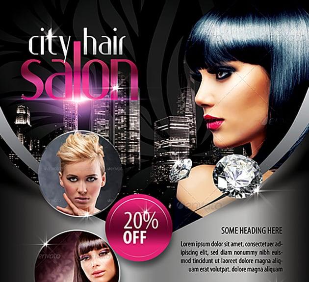 City Hair Salon Grand Opening Flyer