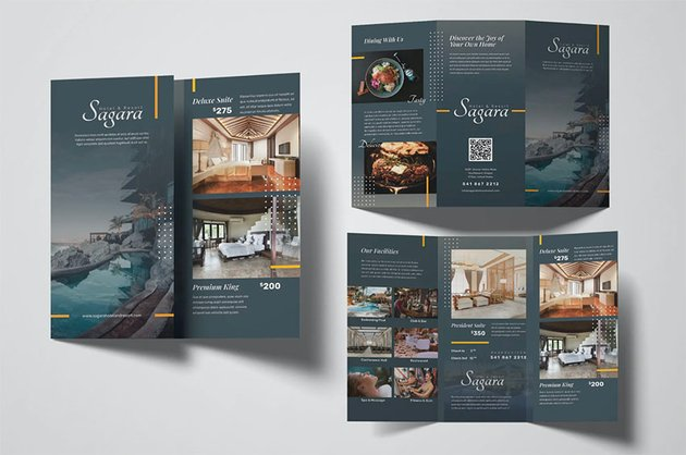 Hotel Spa Brochure (AI, EPS, PSD)