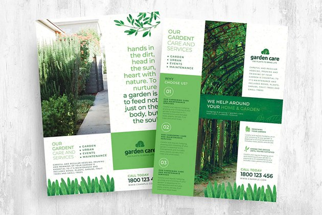 Lawn Care Service Flyers