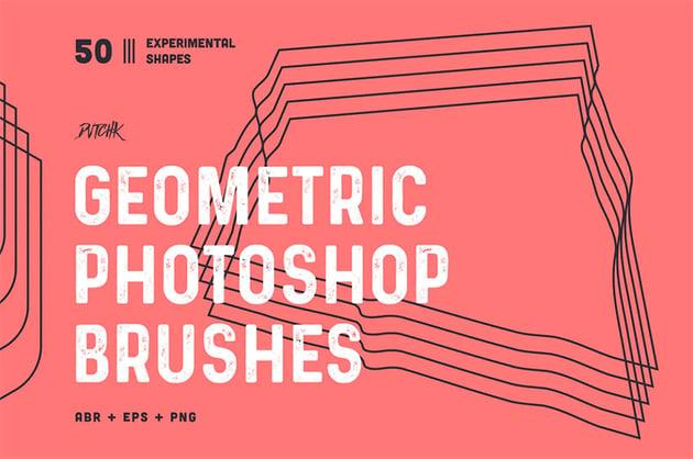 Geometric Photoshop Brushes