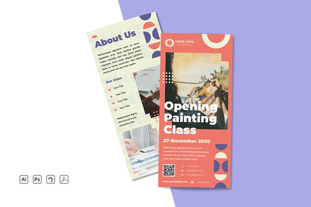 Rack Card Leaflet