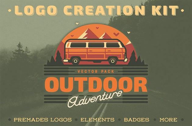 Outdoor Adventure Camp Logo Ideas