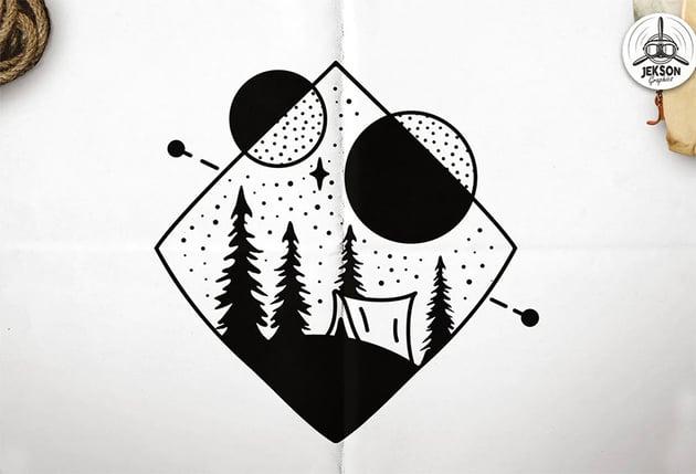 Camp Sacred Logo Summer