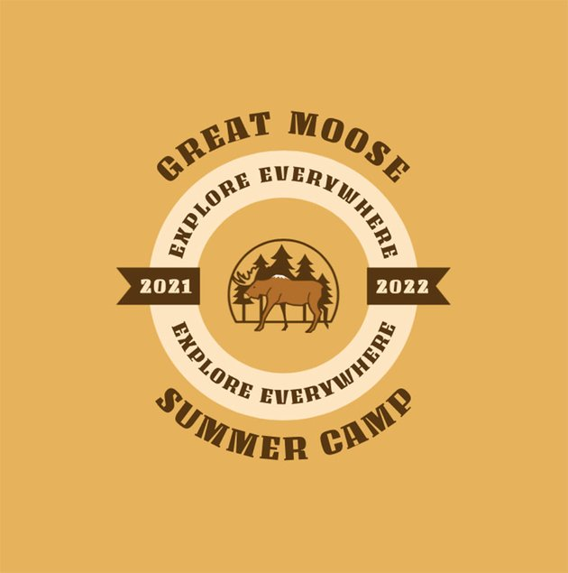 Great Moose Camp Logo Maker