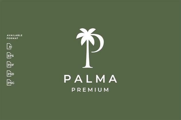 Modern Palm Logo