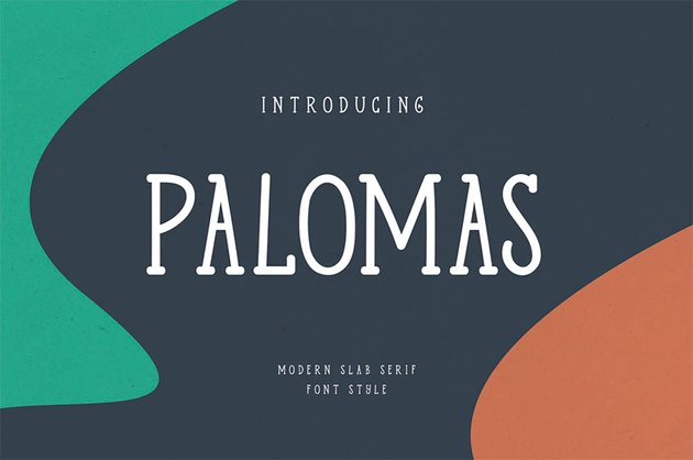 Palomas Handwritten Slab Serif Font