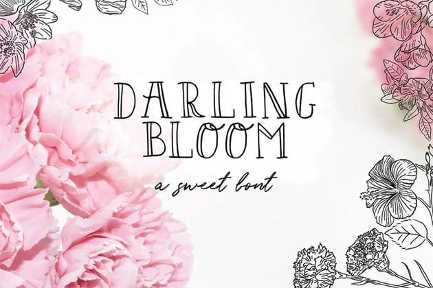Darling Bloom Serif Font Handlettering