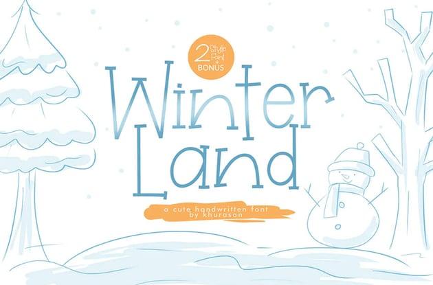 WinterLand Elegant Serif Font