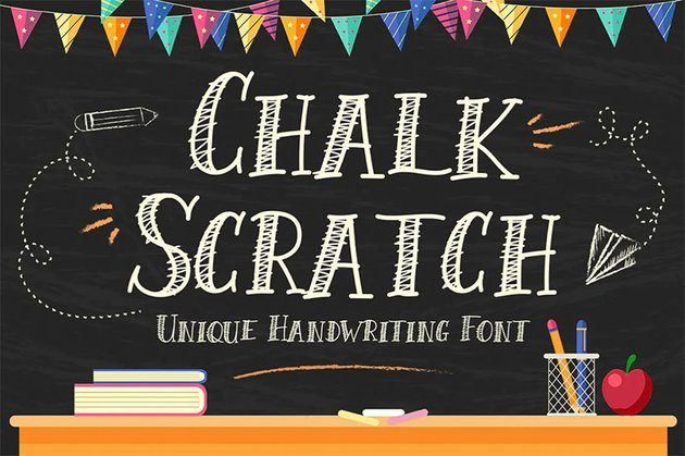 Chalk Scratch Font
