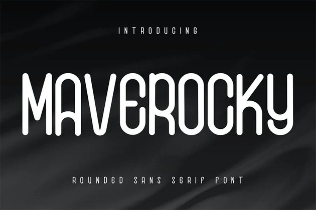 Maverocky Font with Rounded Letters