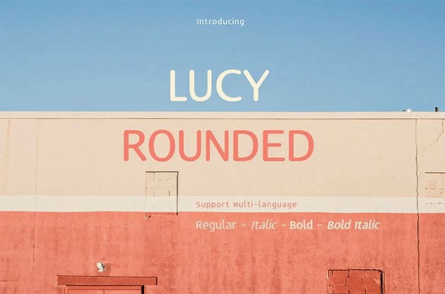 Lucy Font with Rounded Letters