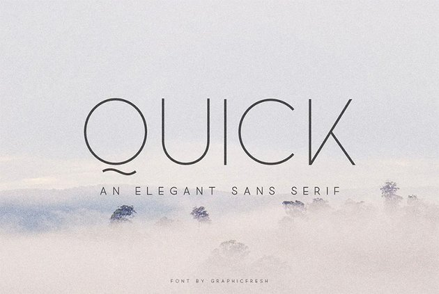 Quick Rounded Typeface
