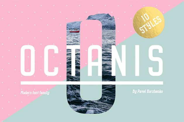 The cool Octanis Rounded Sans Serif Font is available on GraphicRiver.
