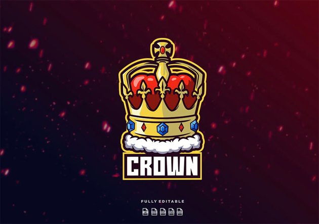 Red and Gold Crown Logo