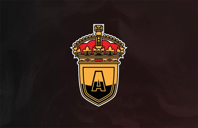 Esports Red and Gold Crown Logo