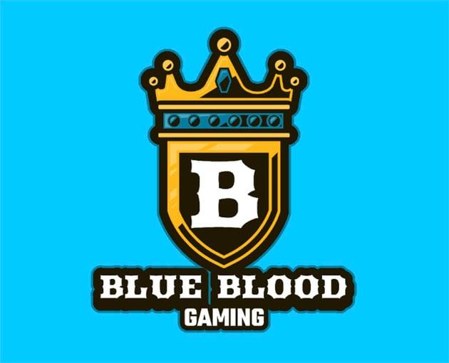 Blue Blood Fashion Logo Gold Crown