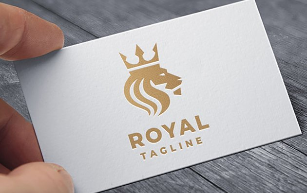 Gold Lion with Crown Logo
