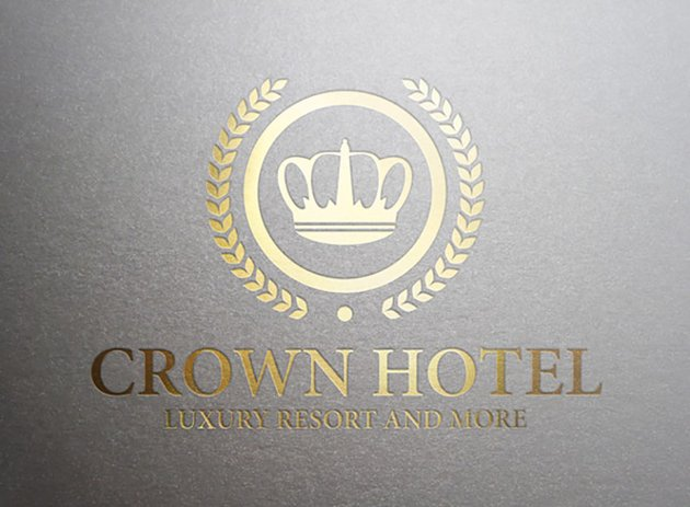 Crown Hotel All Gold Logo