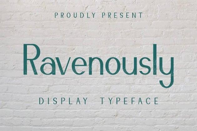 Ravenously Sans Serif Font