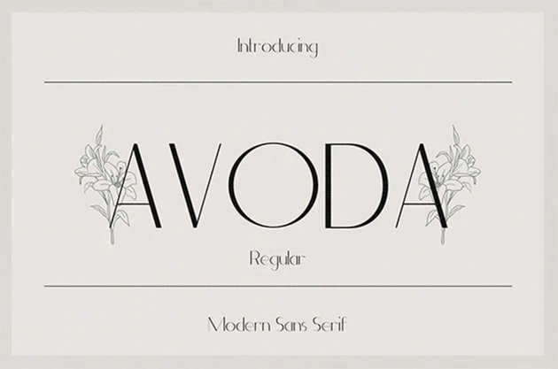 Avoda - Modern Sans Serif