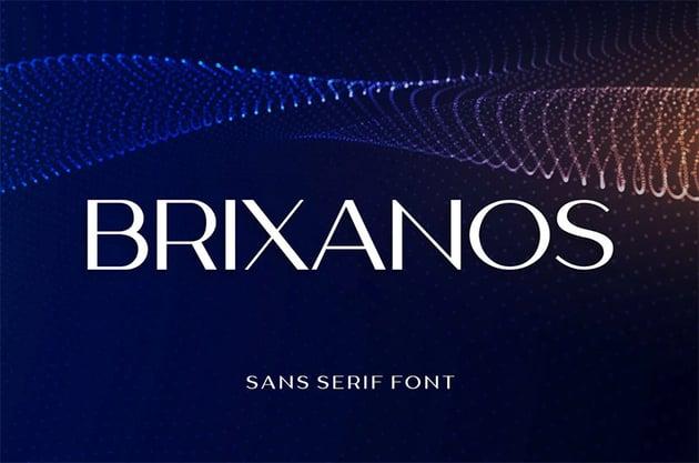 Brixanos Sans Serif Modern Font