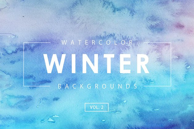 Winter Cool Watercolor Background