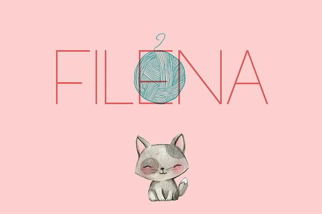 Filena Thin Straight Font